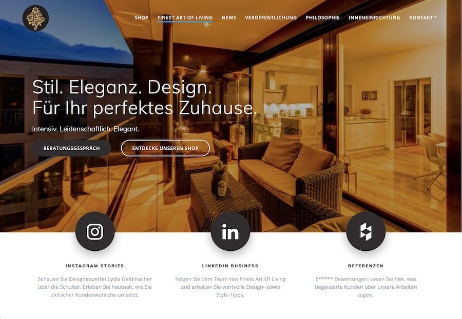 Finest Art of Living Lydia Geldmacher Design Berlin Deeseo Design SEO