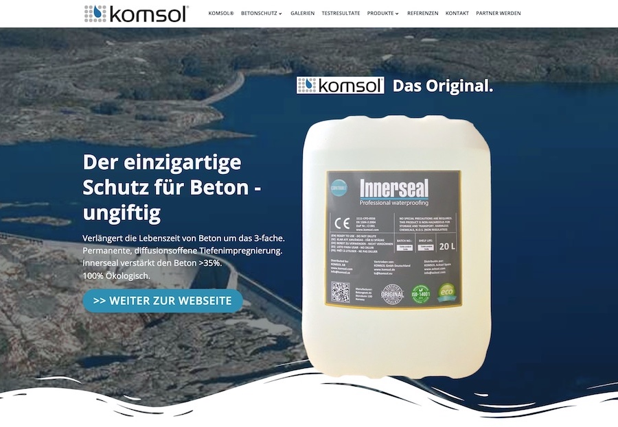deeseo Design SEO Webdesign Website Webseite Homepage Blog Shop innerseal komsol beton versiegeln einzigartig schutz blog